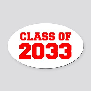 CLASS OF 2033-Fre red 300 Oval Car Magnet