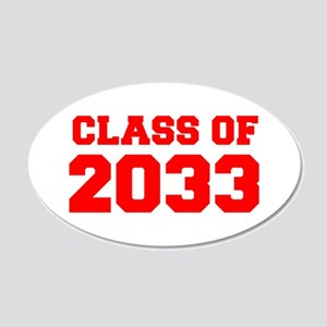 CLASS OF 2033-Fre red 300 Wall Decal