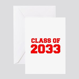 CLASS OF 2033-Fre red 300 Greeting Cards