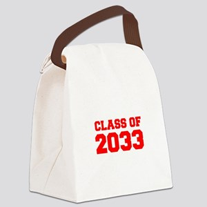 CLASS OF 2033-Fre red 300 Canvas Lunch Bag