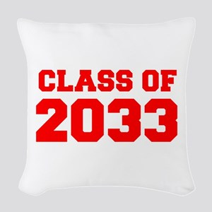 CLASS OF 2033-Fre red 300 Woven Throw Pillow