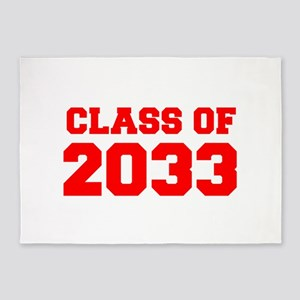 CLASS OF 2033-Fre red 300 5'x7'Area Rug