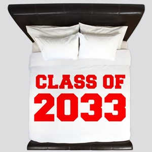 CLASS OF 2033-Fre red 300 King Duvet