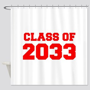CLASS OF 2033-Fre red 300 Shower Curtain