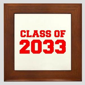CLASS OF 2033-Fre red 300 Framed Tile