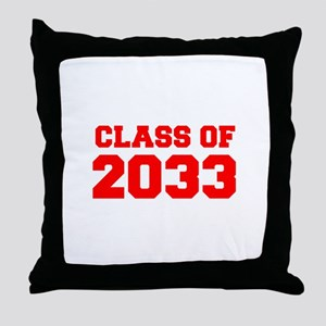 CLASS OF 2033-Fre red 300 Throw Pillow