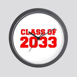 CLASS OF 2033-Fre red 300 Wall Clock