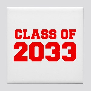 CLASS OF 2033-Fre red 300 Tile Coaster