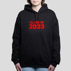 CLASS OF 2033-Fre red 300 Women's Hooded Sweatshir