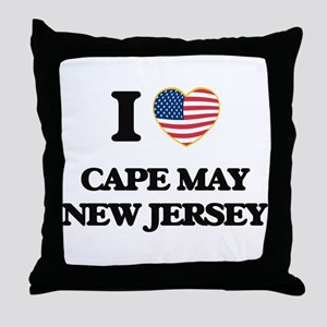I love Cape May New Jersey Throw Pillow