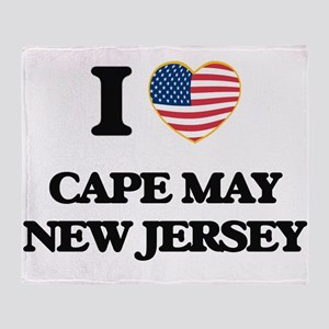 I love Cape May New Jersey Throw Blanket