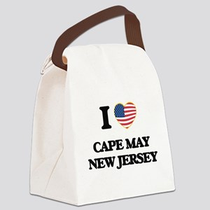 I love Cape May New Jersey Canvas Lunch Bag
