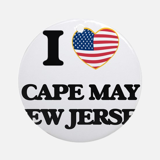 I love Cape May New Jersey Ornament (Round)