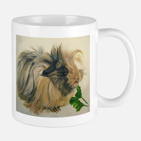 Chippy The Peruvian Long Haired Guinea Pig Mugs