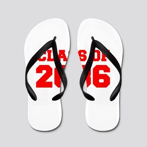 CLASS OF 2036-Fre red 300 Flip Flops