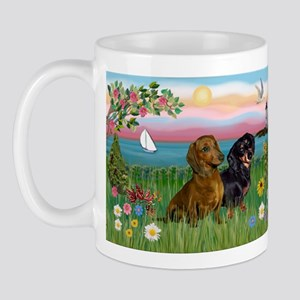 Shore & Dachshund Pair Mug