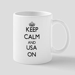 Keep Calm and Usa ON Mugs