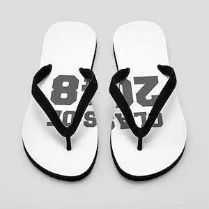 CLASS OF 2048-Fre gray 300 Flip Flops
