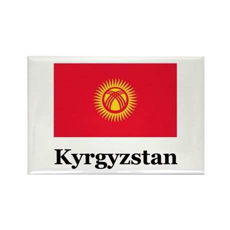 Kyrgyzstan Rectangle Magnet (10 pack)