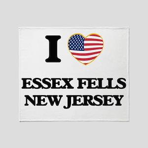 I love Essex Fells New Jersey Throw Blanket