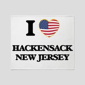 I love Hackensack New Jersey Throw Blanket