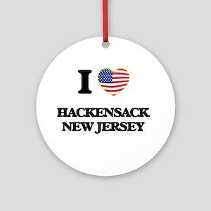 I love Hackensack New Jersey Ornament (Round)