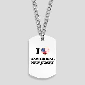 I love Hawthorne New Jersey Dog Tags