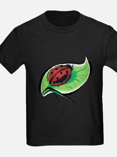 Ladybug on a Leaf T