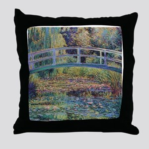 Water Lily Pond by Monet Throw Pillow