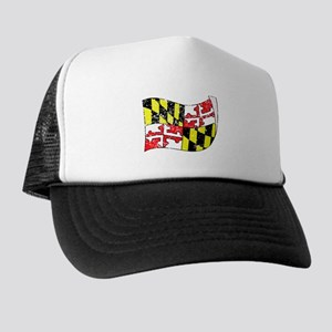 Maryland State Flag (Distressed) Trucker Hat
