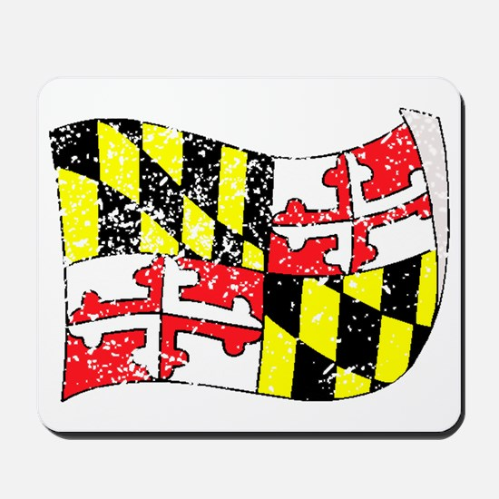 Maryland State Flag (Distressed) Mousepad