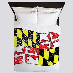 Maryland State Flag (Distressed) Queen Duvet