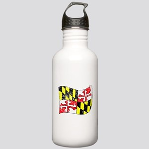 Maryland State Flag (Distressed) Water Bottle