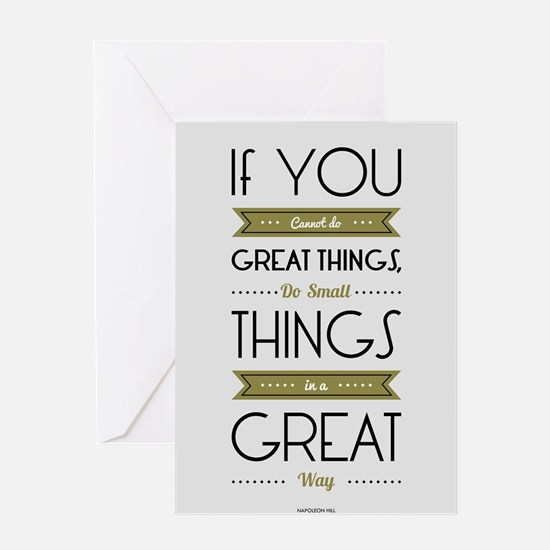 Do Small things in a great way Napo Greeting Cards