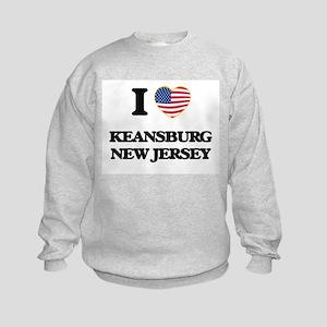 I love Keansburg New Jersey Kids Sweatshirt