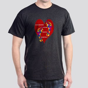 Footprints on your heart 2 Dark T-Shirt