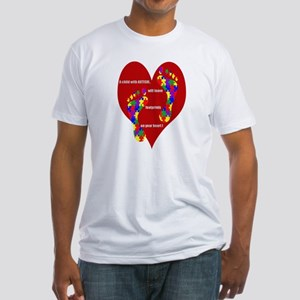 Footprints on your heart 2 Fitted T-Shirt