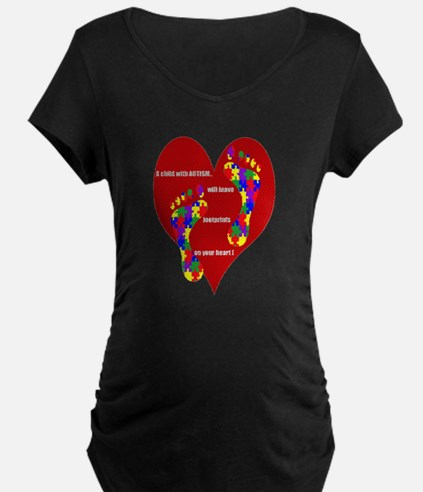 Footprints on your heart 2 T-Shirt
