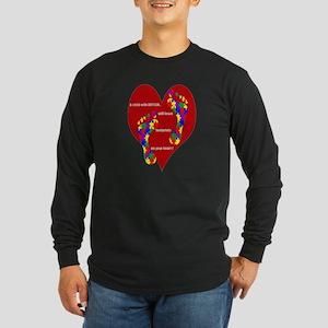 Footprints on your heart 2 Long Sleeve Dark T-Shir