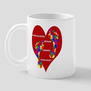 Footprints on your heart 2 Mug