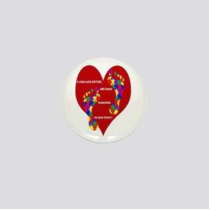 Footprints on your heart 2 Mini Button