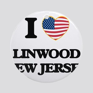I love Linwood New Jersey Ornament (Round)