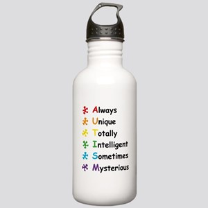 Autism Facts Water Bottle