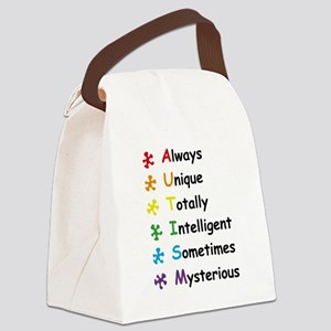 Autism Facts Canvas Lunch Bag