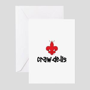 The ORIGINAL craw-de-lis Greeting Cards (Pk of 10)