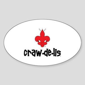 The ORIGINAL craw-de-lis Oval Sticker