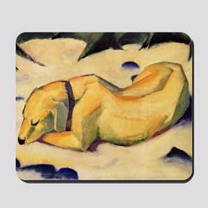 Dog in the Snow Mousepad