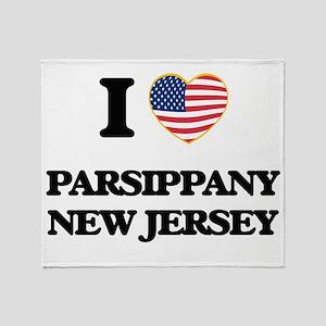 I love Parsippany New Jersey Throw Blanket