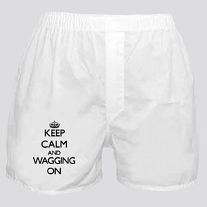 Keep Calm and Wagging ON Boxer Shorts