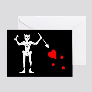 Blackbeard Greeting Card